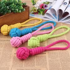 <b>1PCS</b> Puppy Dog Toys Dog Chews <b>Cotton Rope</b> Knot Ball Grinding ...