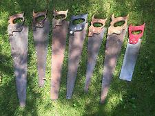 antique hand saw types. vintage - lot of 7 hand saws superior/atkins/simonds/disston antique saw types c