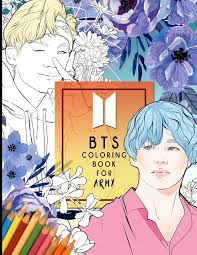 40+ kpop coloring pages for printing and coloring. Bts A Coloring Book For Army Beautifully Hand Drawn Kpop Coloring Pages For Relaxation Creative Expression And Stress Relief For Army Of All Ages
