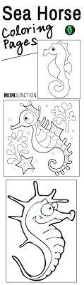 Top 10 Free Printable Seahorse Coloring