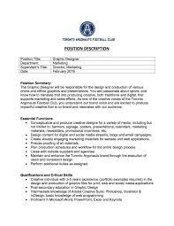 Intermediate Designer Job Description Graphic Designer Toronto Argonauts