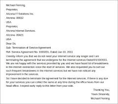 Letter To Terminate Contract With Supplier 11 Termination Of Services Letters Doc Apple Pages