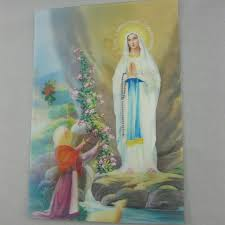 catholic gifts hd waterproof 3d art pictures photo virgin mary of lourdes appearance icon 9