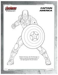Small Picture Marvel Avengers Captain America Coloring Page Printable Coloring
