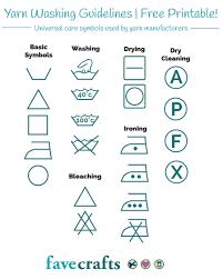 Yarn Washing Symbols Pdf Favecrafts Com