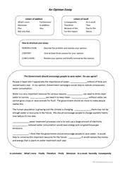 essay writing worksheet esl printable worksheets made by how to write an opinion essay