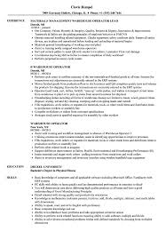 Warehouse Operator Resume Samples Velvet Jobs