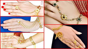 Gold Ring Bracelet Designs Beautiful Designer Ring Bracelets Designs Amazing Hand