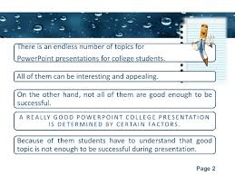 presentation topics for college students powerpoint templates page 2