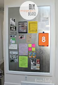 Large Diy Magnet Board Great Details To Make Family Message