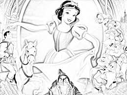 Stampa E Colora Biancaneve Disney Da Colorare Disegno 22