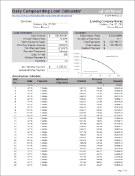 Download The Daily Compounding Loan Calculator From Vertex42 Com