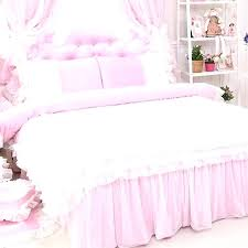 frilly bedding sets rose ruffle duvet cover set light pink white