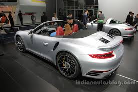 porsche 911 turbo 2016. 2016 porsche 911 turbo s cabriolet rear three quarters left side at auto china