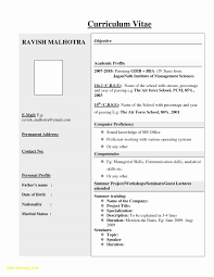 Resume Format For Freshers Free Download New Resume Format For