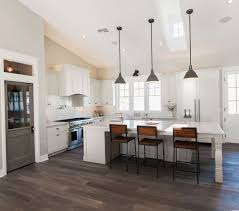 Image Farmhouse Kitchen Vaulted Ceilings In The Kitchen Large Island With Pendant Lighting And Wooden Bar Chairs Subway Tile Backsplash Rafterhouse Kitchens Pinterest Pinterest Vaulted Ceilings In The Kitchen Large Island With Pendant Lighting