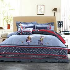 denim duvet covers king 100 cotton denim bedding set lovely character bed sheet duvet cover bedclothes