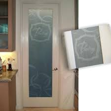 pantry doors etched glass doors frosted pantry door with modern custom etching modern bi fold pantry