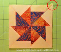 Flying Kite Quilt block: Download the FREE paper piecing pattern ... & Finished Flying Kite quilt block with one dog ear left to trim Adamdwight.com