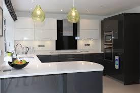 white kitchen units black worktop red gloss cabinets dark grey high oak doors fitted cupboard floor
