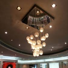 Modern Crystal Chandelier Ball Shaped Pendant Lamp 3 in The Shadow