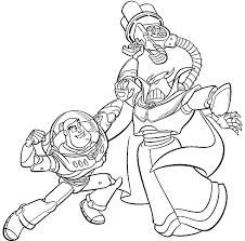 Toy Story Buzz Lightyear E Limperatore Zurg Disegni Da Colorare