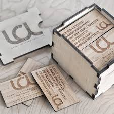 Laser Engraved Bamboo Business Cards
