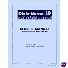 Dixie Narco Vending Machine Price Magnificent USERSERVICE MANUAL For DIXIE NARCO SinglePrice Soda Pop Coke