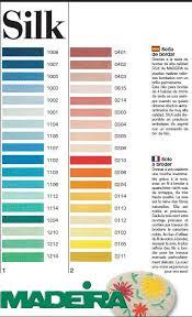 Madeira Embroidery Thread Colour Chart Thread Colour Charts Madeira Silk Hand Embroidery Thread