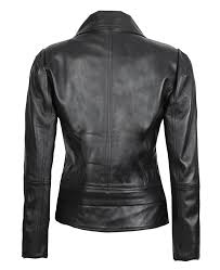 womens asymmetrical leather jacket
