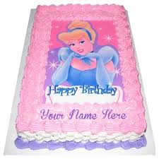 Cinderella Princess Birthday Cakes On Name Wishes Pictures Lace
