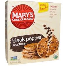 Mary's Gone Crackers, <b>Black Pepper Crackers</b>, <b>6.5</b> oz (184 g ...