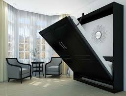 black wall bed ikea