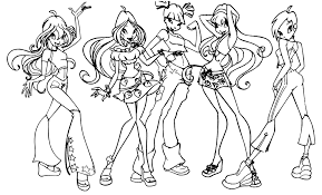 Small Picture Winx Club Coloring Pages Coloring Home