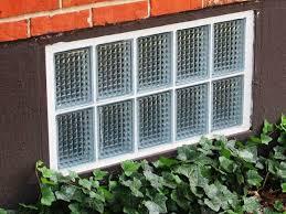 install glass block basement window