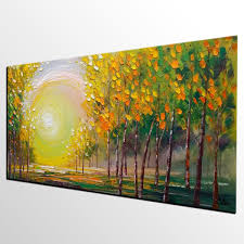 Large Paintings For Living Room Oil Painting Living Room Wall Art Landscape Painting Abstract