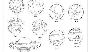 Printable Solar System Coloring Pages Book Planet Popular Planets Co