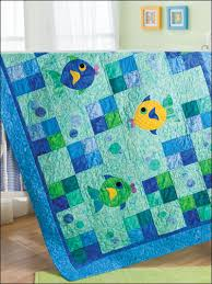 Quilting - Children & Baby Patterns - Applique Quilt Patterns ... & Quilting - Children & Baby Patterns - Applique Quilt Patterns - Fish &  Bubbles Adamdwight.com