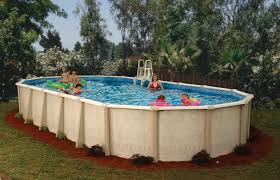 image of outdoor above ground swimming pools
