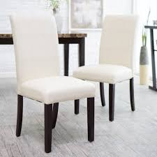 Avorio Ivory Dining Chair Set Of  A Contemporary Study In - Faux leather dining room chairs