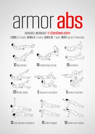 No Equipment Ab Exercises Chart Ab Workouts