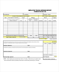Expenses Report Sample Free 31 Expense Report Examples Samples In Pdf Google