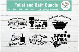 Files are compatible with cricut, cameo silhouette studio and other cutting machines. Funny Bathroom And Toilet Quotes Bundle Graphic By Redearth And Gumtrees Creative Fabrica