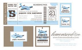 Plane Ticket Invitation Template Printable Airline Ticket Invitation Template fems tours and 1