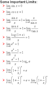 Some Important Limits Math Formulas Mathematics Formulas