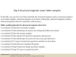 A Cover Letter For A Job Application Top 5 Structural Engineer Cover Letter Samples