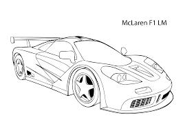 Super Car Mclaren F1 Lm Coloring Page Cool Car Printable Free