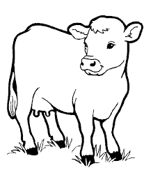 Small Picture Little Cow Preschool Coloring Pages Farm Animals Animal Coloring