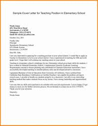 Example Teacher Cover Letters 018 Template Ideas Elementary Teaching Cover Letter Example