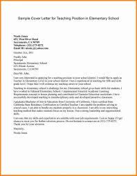 Teacher Cover Letter Example 018 Template Ideas Elementary Teaching Cover Letter Example